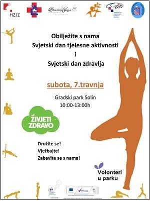 Volonteri u parku - obilježavanje Svjetskog dana tjelesne aktivnosti i Svjetskog dana zdravlja