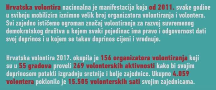 Filmić o manifestaciji Hrvatska volontira 2017