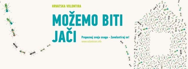 """Poziv za prijavu volonterskih aktivnosti za manifestaciju """"Hrvatska volontira"""""""
